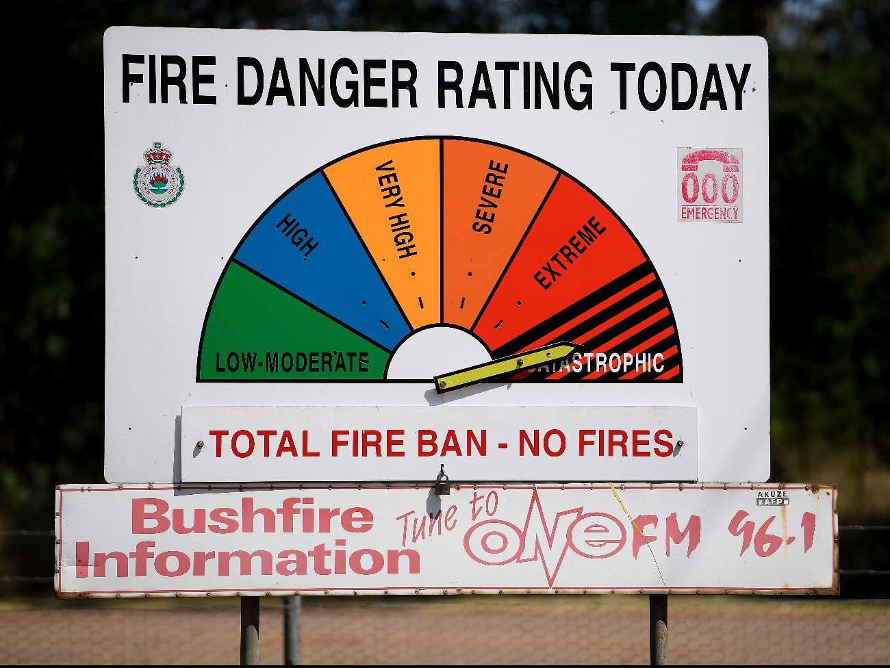 While there is currently no immediate fire threat locally, a catastrophic fire danger rating has been issued for tomorrow. My office has had a number of