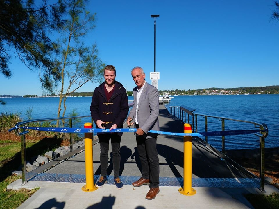 A beautiful morning to meet at Speers Point Park for the official opening of the new jetty. Speers Point is an incredibly important recreation, sporting and cultural