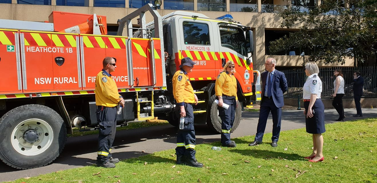 I met with RFS volunteers this morning ahead of this weekend's Get Ready Weekend. With the bushfire season fast approaching, RFS brigades across