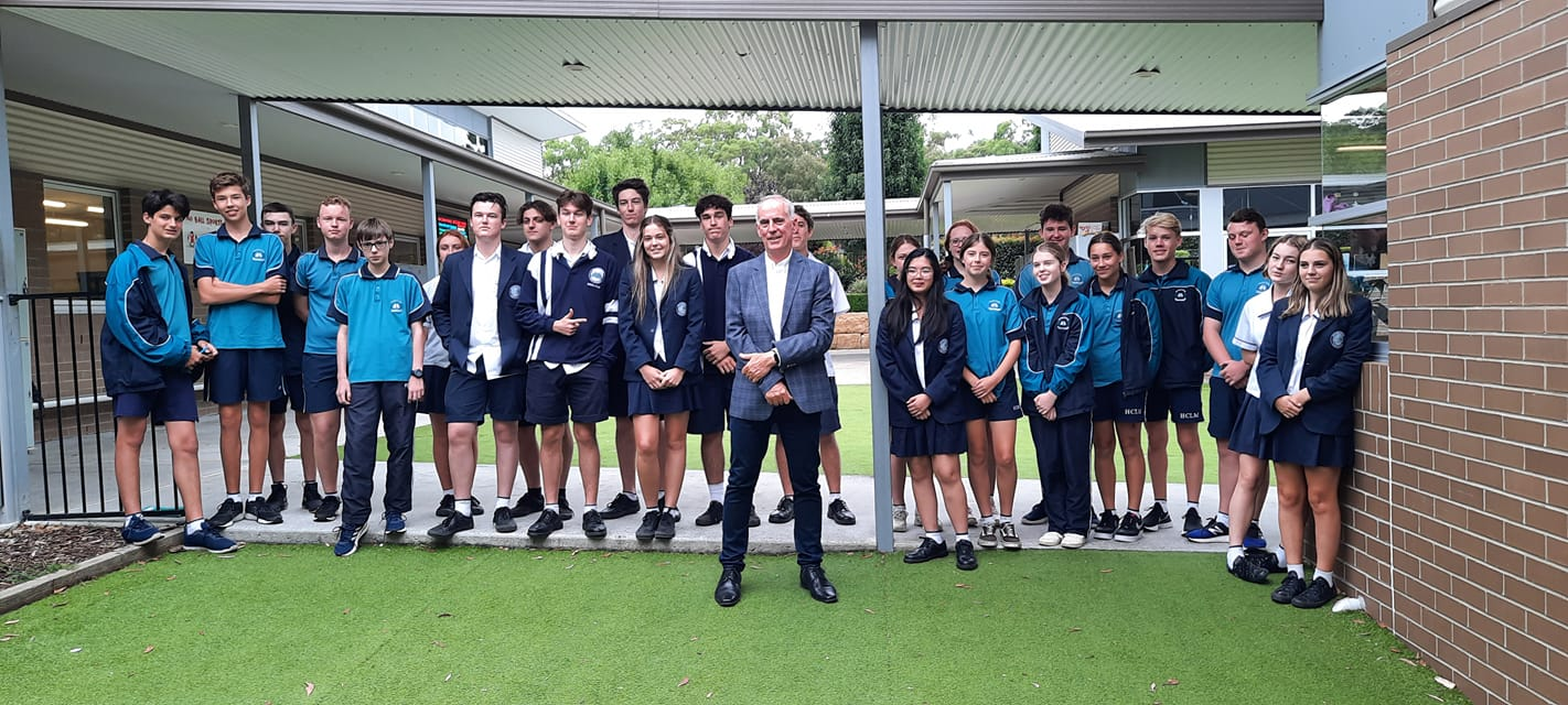 It was wonderful to visit the Heritage College Lake Macquarie today and speak with Legal Studies and Commerce Class students. I'm always impressed