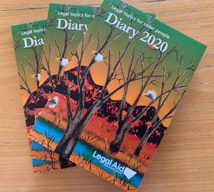 Copies of Legal Aid's 2020 diary for older people are now available in my Toronto office. The diary is popular among local seniors as it contains useful