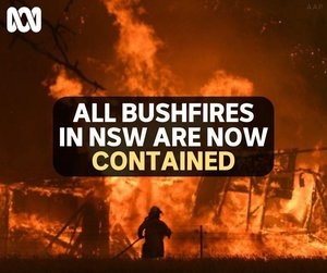 How good is this? I again extend my thanks to our 10 local RFS units and all our emergency services personnel who have worked tirelessly for months.