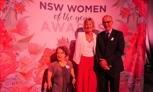 It was wonderful to watch Justine Lorenz from Brightwaters win the Community Hero Award at this morning's NSW Women of the Year Awards.