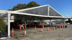 A new drive-through testing facility opens today at Warners Bay. You do not need to make an appointment or have a doctor's referral. The clinic is located in the car