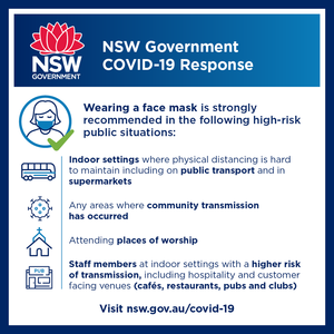 There's been a lot of debate about masks, so here's some common sense advice from NSW Health. Masks are not a guaranteed way of avoiding Covid, but they will