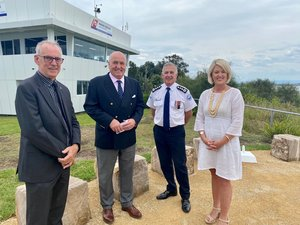 I'm a very big fan and an honoured patron of Marine Rescue Lake Macquarie so I was absolutely thrilled to be part of the official opening of their new search and
