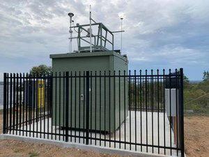 Having called for years for the state to provide an independent air quality monitor in Lake Macquarie, it's now close to completion. The location on the hill at Mirrabooka