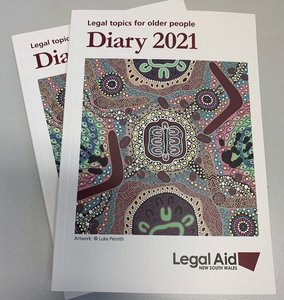 The 2021 Legal Aid diary for seniors is out now and I have plenty of free copies available for those who want one. The Legal Aid diary is full of handy information for
