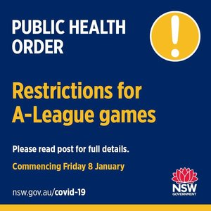 Restrictions for A-League games, starting with the Jets game in Newcastle tonight. This is the statement issued by NSW Health: To help prevent the spread of COVID-19
