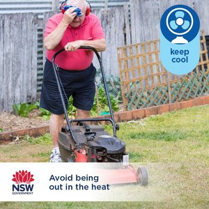 We've got a warm few days ahead, so if you need an excuse to forget about mowing the lawns this weekend, this is it. The Bureau of Meteorology is expecting temps to