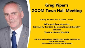 RSVP date extended. Limited spaces are still available for anyone would like attend my upcoming Lake Macquarie Zoom Meeting with special guest speaker Gareth Ward