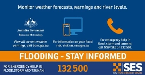 The Bureau of Meteorology is predicting heavy rain will continue in the area today and possibly worsen tomorrow. Low-level flooding is occurring in low-lying areas