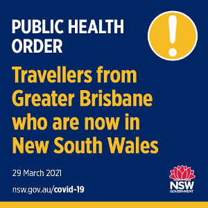All still good in NSW, not so good in QLD with new health orders issued for anyone who has been in Brisbane or the Byron Bay area recently. If you have been in the