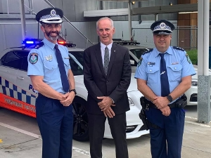 Some great news! I'm at Morisset Police Station with Lake Macquarie Police Superintendent Danny Sullivan to announce that nine new highway patrol officers